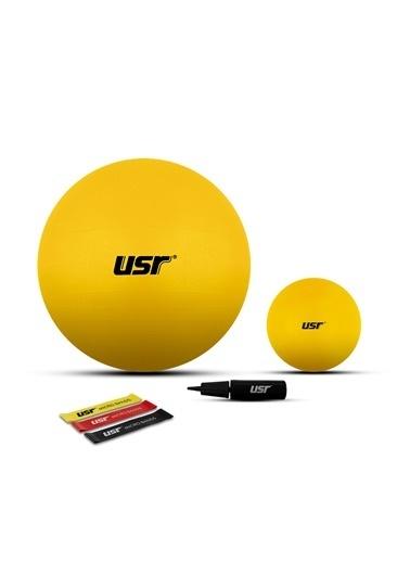 Usr USR 25 + 65 Cm Pilates Topu + Pompası + 3 Micro Bant Sarı